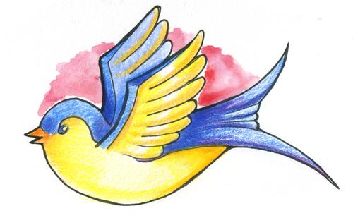 Dessin de la session ink master fallengodess - Hirondelle coloriage ...