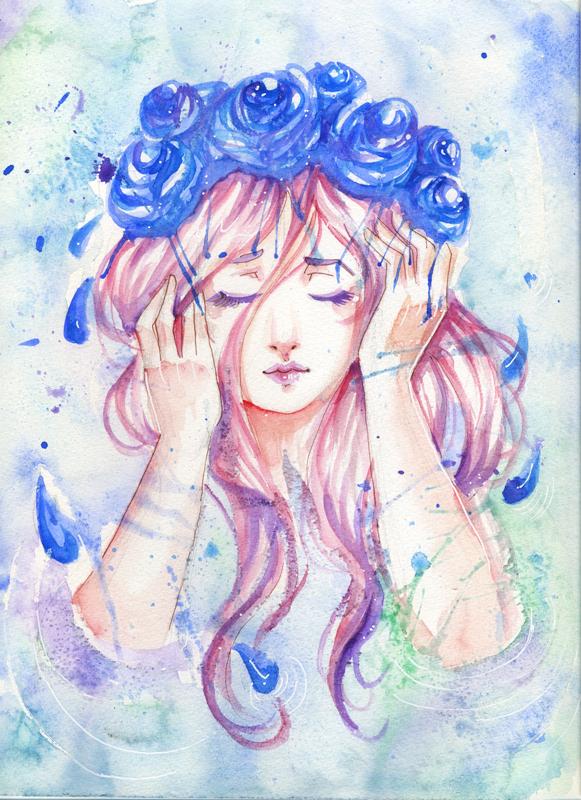 Licorne pastelle - Dessin colore ...